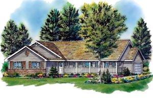 House Design - Ranch Exterior - Front Elevation Plan #18-198