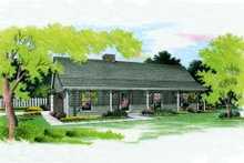 Home Plan - Country Exterior - Front Elevation Plan #45-255