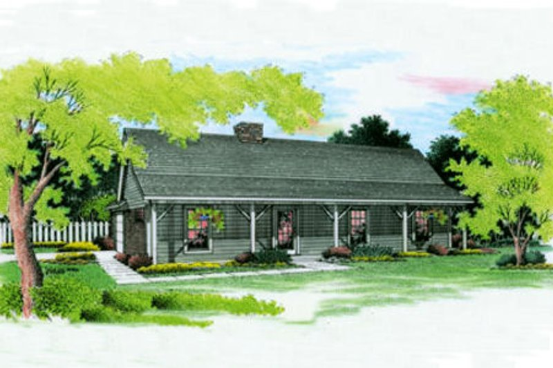 Country Exterior - Front Elevation Plan #45-255 - Houseplans.com