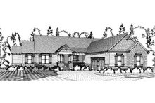 Craftsman Exterior - Front Elevation Plan #63-371