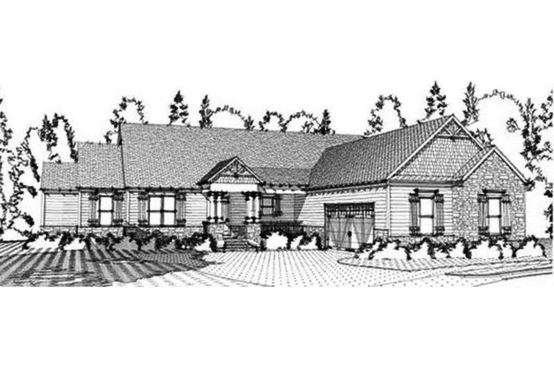 Craftsman Exterior - Front Elevation Plan #63-371
