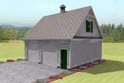 Colonial Style House Plan - 0 Beds 0 Baths 1120 Sq/Ft Plan #75-194 Exterior - Rear Elevation