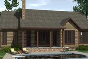 Craftsman Style House Plan - 3 Beds 2.5 Baths 3082 Sq/Ft Plan #1071-22 Exterior - Rear Elevation