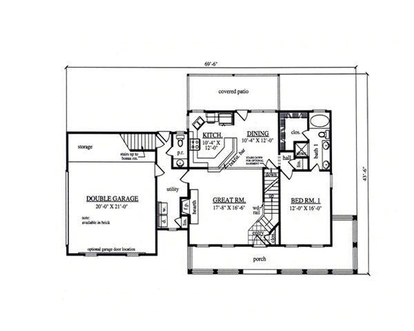 Country Floor Plan - Main Floor Plan #42-369