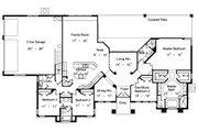 European Style House Plan - 4 Beds 3 Baths 3412 Sq/Ft Plan #417-379 Floor Plan - Main Floor Plan