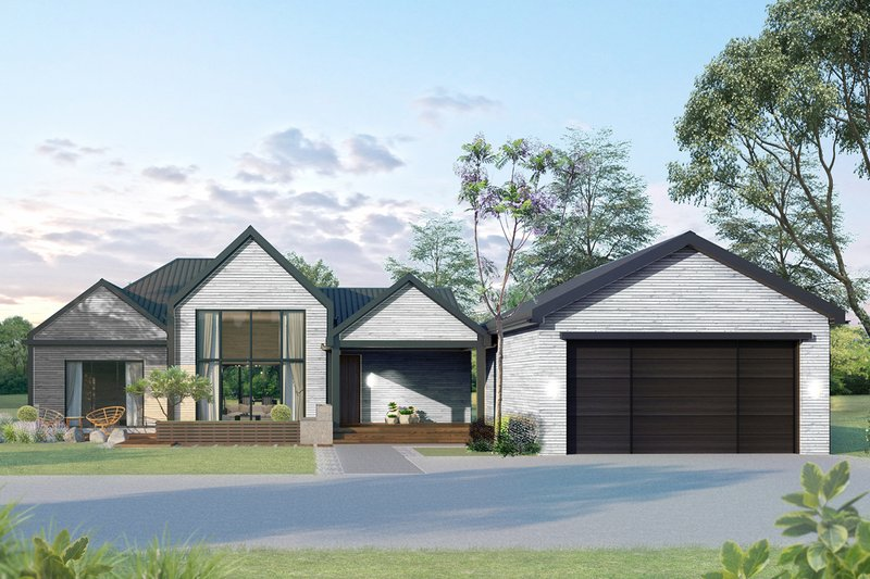 Ranch Style House Plan - 3 Beds 3 Baths 1631 Sq/Ft Plan #1075-1 Exterior - Front Elevation