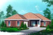 Traditional Style House Plan - 3 Beds 2 Baths 1400 Sq/Ft Plan #15-139 Exterior - Front Elevation