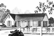 Ranch Style House Plan - 3 Beds 1 Baths 998 Sq/Ft Plan #36-354 Exterior - Front Elevation