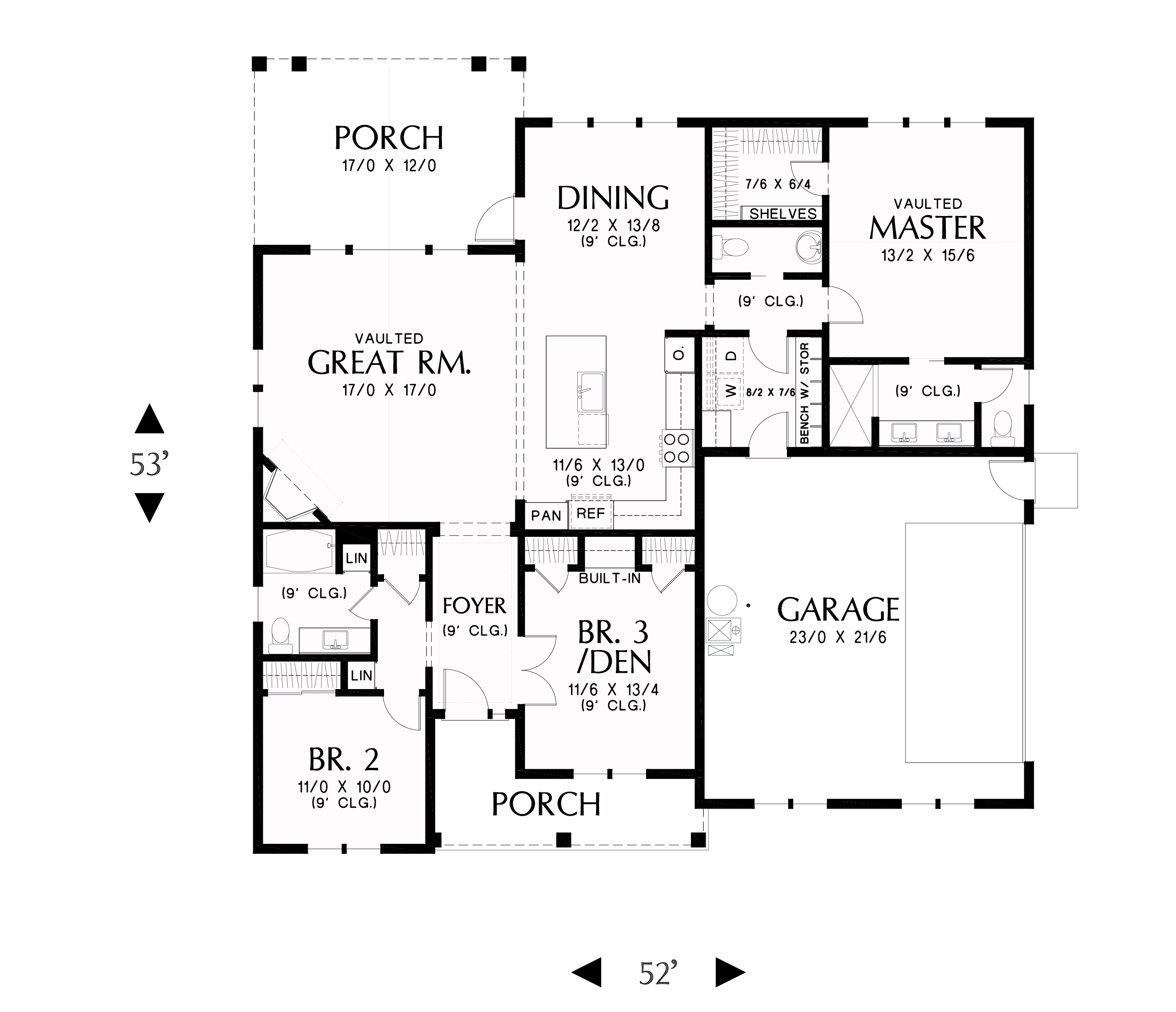 Farmhouse Floor Plan - Main Floor Plan Plan #48-985