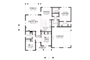 Farmhouse Style House Plan - 3 Beds 2.5 Baths 1704 Sq/Ft Plan #48-985 Floor Plan - Main Floor