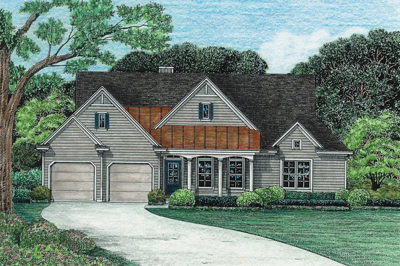 House Plan Design - Country Exterior - Front Elevation Plan #20-624
