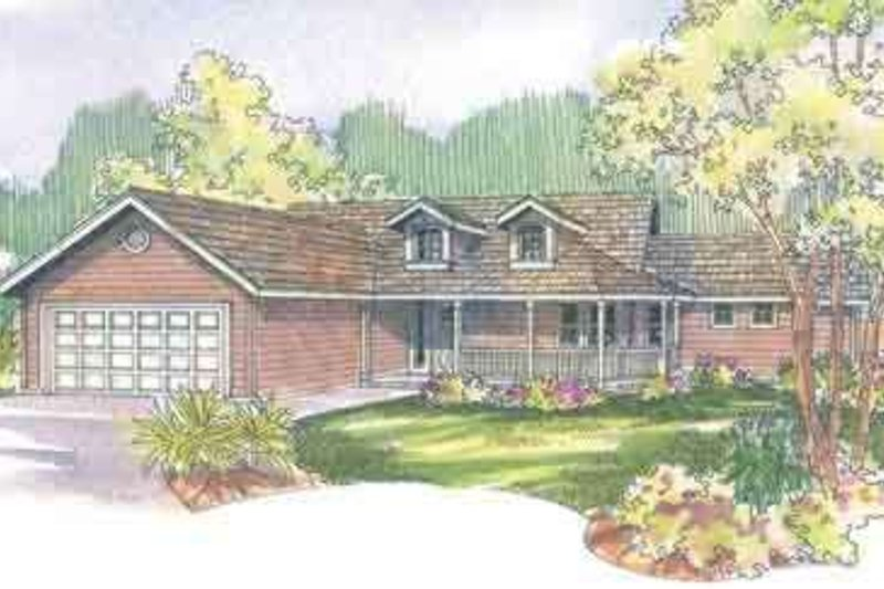Traditional Style House Plan - 3 Beds 2 Baths 1668 Sq/Ft Plan #124-495