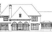 European Style House Plan - 5 Beds 5 Baths 4648 Sq/Ft Plan #72-194 Exterior - Rear Elevation