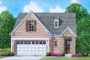 European Style House Plan - 3 Beds 2.5 Baths 1905 Sq/Ft Plan #424-39 Exterior - Front Elevation
