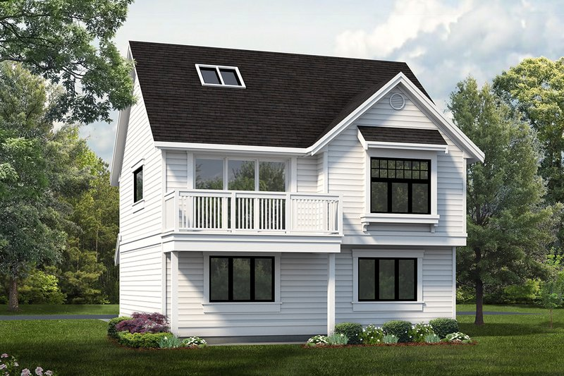 Country Exterior - Front Elevation Plan #47-516
