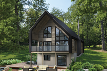 House Plan Design - Cottage Exterior - Front Elevation Plan #25-4933