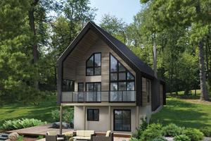 Cottage Exterior - Front Elevation Plan #25-4933