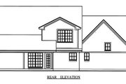 Country Style House Plan - 4 Beds 2.5 Baths 1815 Sq/Ft Plan #42-344 Exterior - Rear Elevation