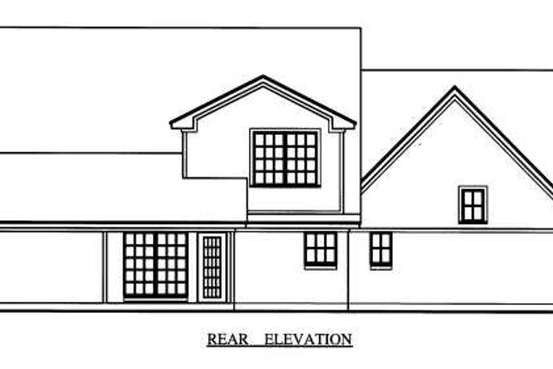 Country Exterior - Rear Elevation Plan #42-344 - Houseplans.com