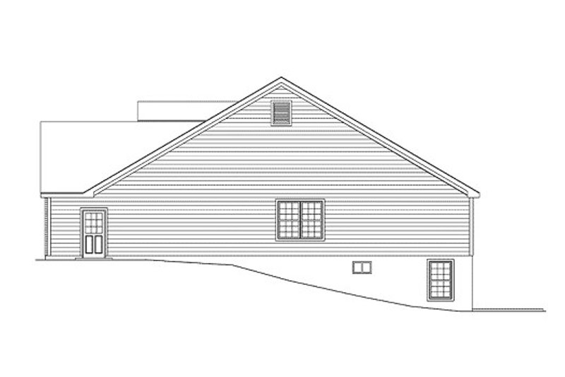 Ranch Exterior - Other Elevation Plan #57-252 - Houseplans.com