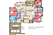 Country Style House Plan - 4 Beds 2.5 Baths 2414 Sq/Ft Plan #63-267 Floor Plan - Main Floor Plan