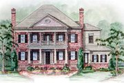 Southern Style House Plan - 5 Beds 5.5 Baths 5693 Sq/Ft Plan #54-132 Exterior - Other Elevation
