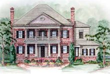 Southern Exterior - Other Elevation Plan #54-132