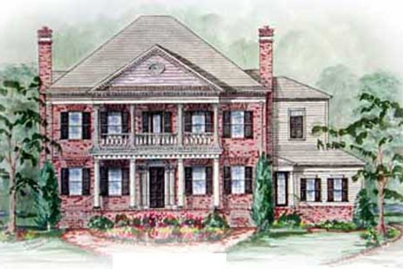 Southern Exterior - Other Elevation Plan #54-132 - Houseplans.com