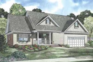 Country Exterior - Front Elevation Plan #17-647