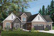 Traditional Style House Plan - 4 Beds 3.5 Baths 3719 Sq/Ft Plan #23-401 Exterior - Front Elevation