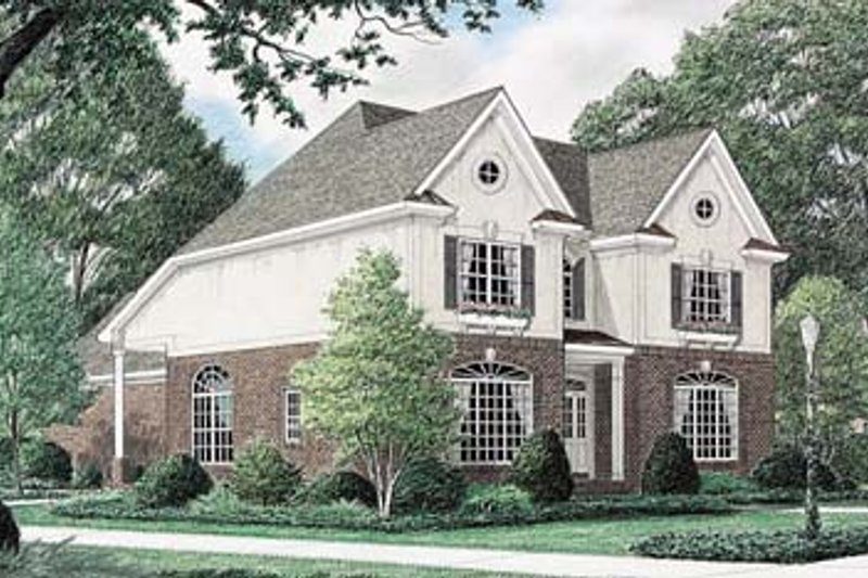 Traditional Exterior - Front Elevation Plan #34-154 - Houseplans.com