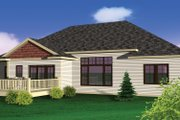 Bungalow Style House Plan - 3 Beds 2 Baths 1884 Sq/Ft Plan #70-1070 Exterior - Rear Elevation