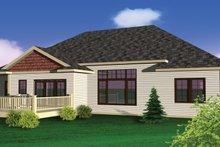 Dream House Plan - Bungalow Exterior - Rear Elevation Plan #70-1070
