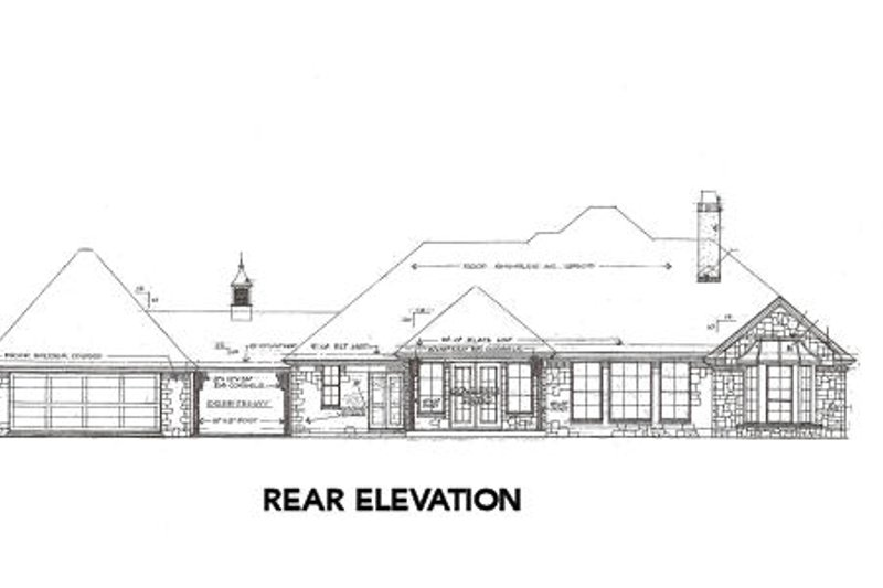 Traditional Exterior - Rear Elevation Plan #310-647 - Houseplans.com