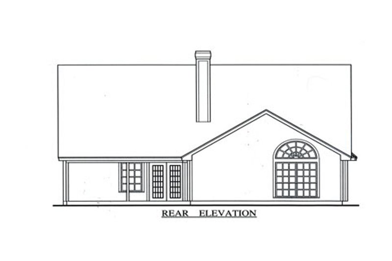 Country Exterior - Rear Elevation Plan #42-367 - Houseplans.com