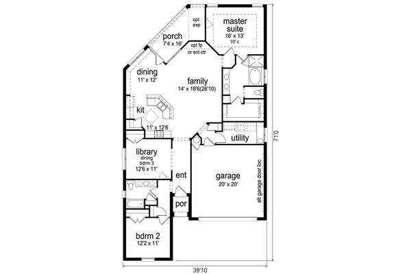 Home Plan - Traditional Floor Plan - Main Floor Plan #84-577