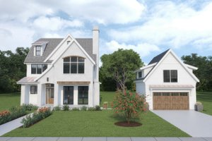 Dream House Plan - Farmhouse Exterior - Front Elevation Plan #1070-112