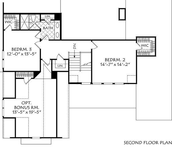 Home Plan - Farmhouse Floor Plan - Upper Floor Plan #927-1009