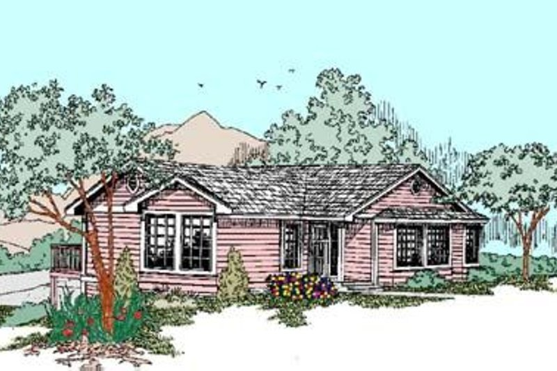 Traditional Exterior - Front Elevation Plan #60-427 - Houseplans.com