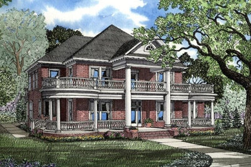 Home Plan - Southern Exterior - Front Elevation Plan #17-247