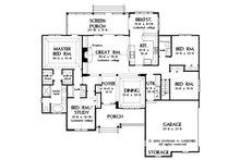 Country Floor Plan - Main Floor Plan Plan #929-9