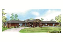 Prairie Exterior - Front Elevation Plan #124-904