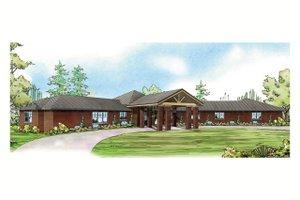 Prairie Exterior - Front Elevation Plan #124-904