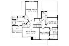 Craftsman Floor Plan - Upper Floor Plan Plan #413-102