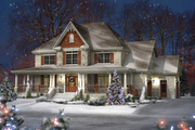 Country Style House Plan - 4 Beds 2 Baths 3067 Sq/Ft Plan #25-4627 Exterior - Front Elevation