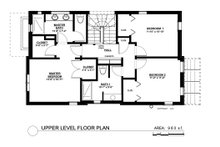 Contemporary Floor Plan - Upper Floor Plan Plan #535-26