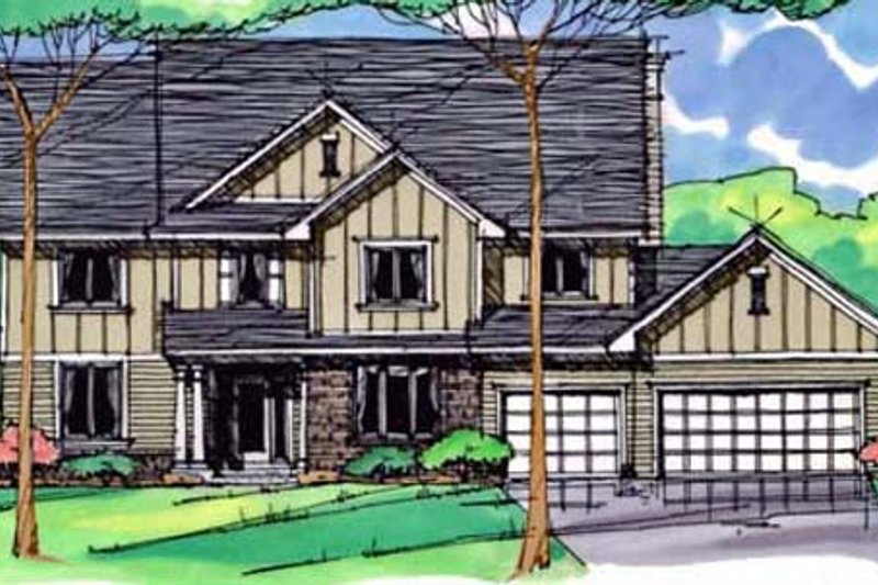Traditional Exterior - Front Elevation Plan #51-395 - Houseplans.com