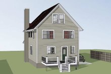 House Plan Design - Craftsman Exterior - Rear Elevation Plan #79-305