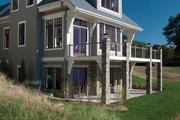 Traditional Style House Plan - 4 Beds 3.5 Baths 3472 Sq/Ft Plan #928-11 Exterior - Rear Elevation