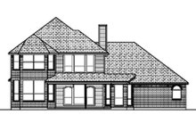 European Exterior - Rear Elevation Plan #84-391